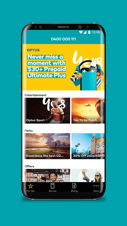 My Optus- screenshot