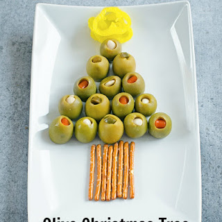 Olive Christmas Tree Appetizer Plate Recipe