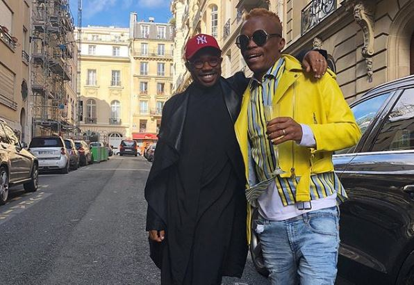 Somizi and Thami Dish lit up the mall with their dance routine.