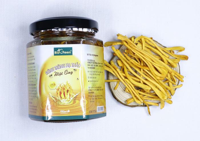 Đông trùng hạ thảo ngâm mật ong Lọ 110ml - Biogreen
