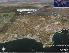 Photo: Desde la chinchetilla amarilla estan tomadas las fotos  (Cap Salou) que vereis a continuación mirando dirección hacia Salou city.