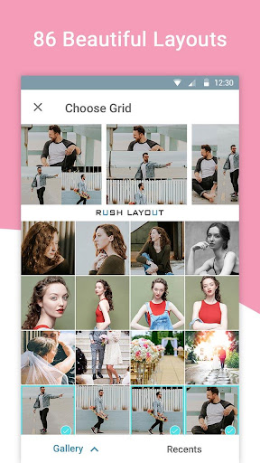 Rush Layout for Instagram - Photo Collage Maker 1.0.2 screenshots 2