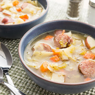 Cabbage Soup with Sausage and Potatoes.