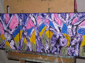 Photo: Favourite Old Trees Oil Triptych 70cmx30cm $100