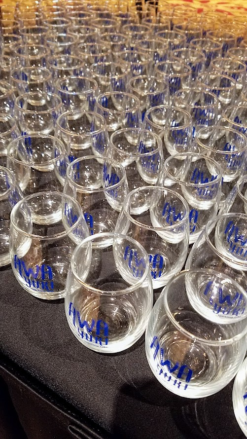 Sake tasting glasses to use during Sake Fest 2016 and to take home after