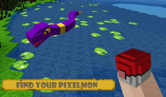 Pixel Craft Exploration All IV: Pixelmon Story mod - náhled