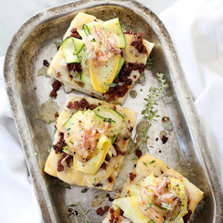 Zucchini and Chorizo Cheese Toast.
