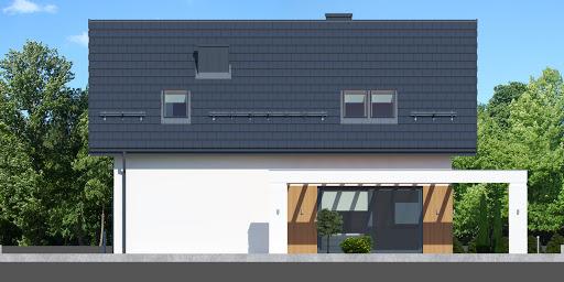 Dom przy Alabastrowej 38 - Elewacja tylna
