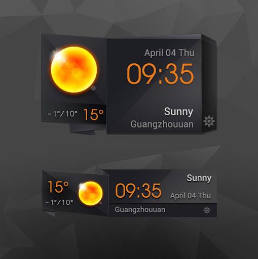 3D Clock Current Weather Free screenshots 2