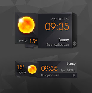 3D Clock Current Weather Free 3