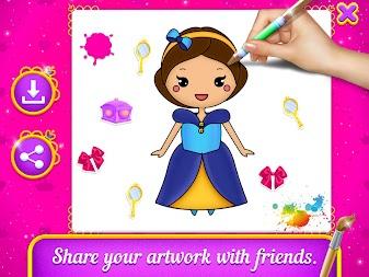 Princess Coloring Book Drawing For Kids APK Screenshot Thumbnail 8