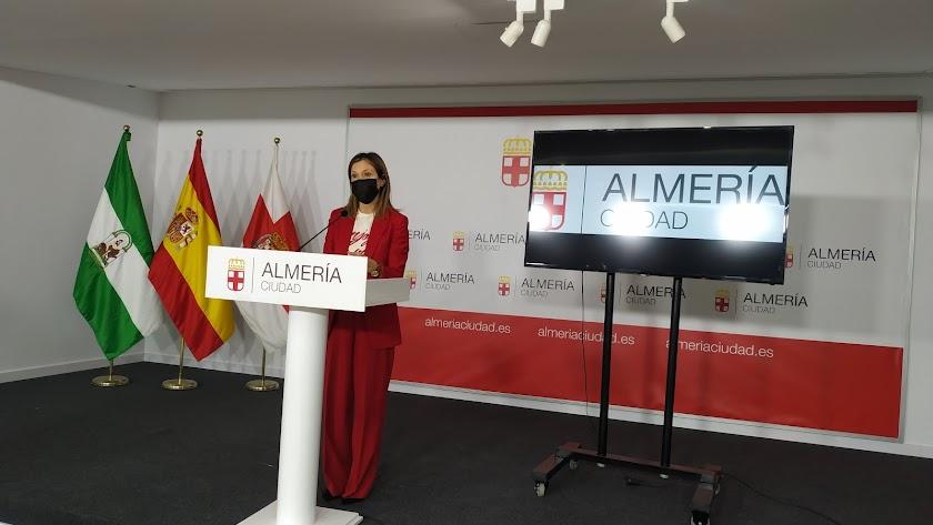 Ana Martínez Labella, consejera delegada de Almería XXI, durante la presentación