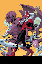 Photo: AVENGING SPIDER-MAN #17 COVER. 2012. Ink(ed by Joe Rivera) on Marvel board, 11 × 17.25″.