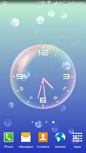 Bubble Clock Live Wallpaper screenshot 3