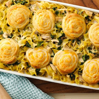 Creamy Spinach Tuna Casserole.