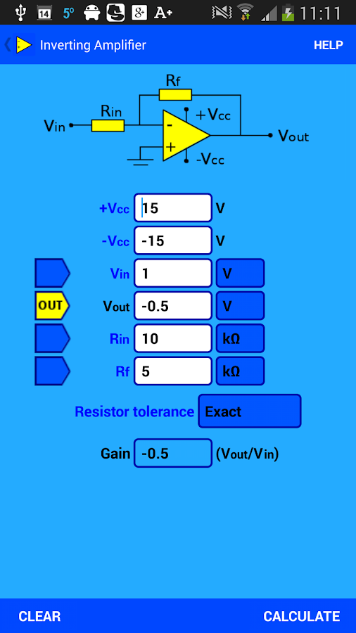 Opamp Calculator- screenshot