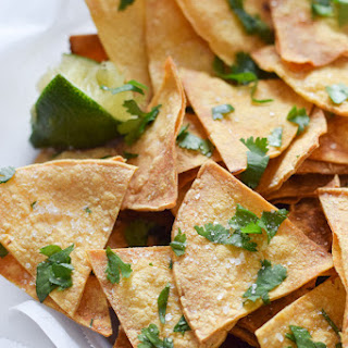 Homemade Lime Tortilla Chips.