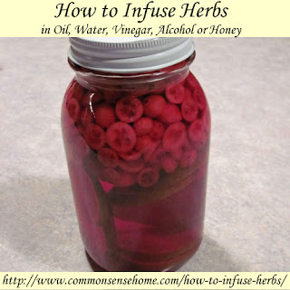 How to Infuse Herbs in Vinegar or Alcohol