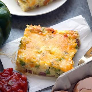 Healthy Denver Omelet Egg Bake to Serve a Crowd.