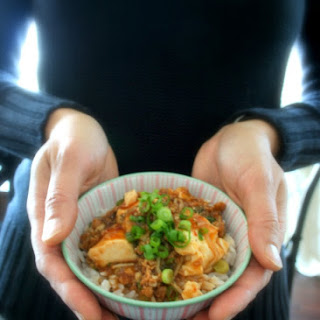 Mapo Tofu with Enoki Mushroom