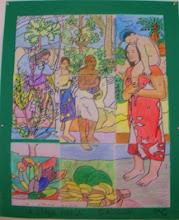 """Photo: Composición grupal Gauguin""""La Orana María"""" Alumnado 5º C"""