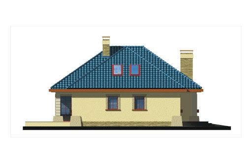 Akacja II wersja B z pojedynczym garażem - Elewacja lewa