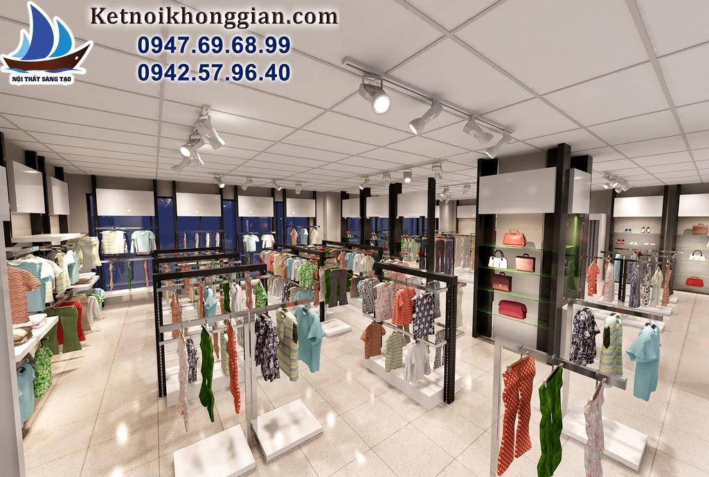 thiết kế gian hàng quần áo thời trang