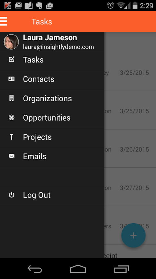 Insightly CRM- screenshot