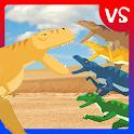T-Rex Fights Raptors icon