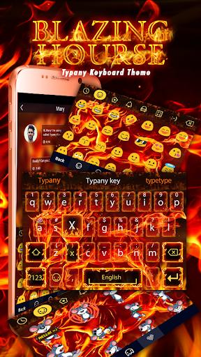 mod Blazing Horse Typany Keyboard 4.5 screenshots 1