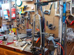 Photo: 3:00, the fork parts have all been cleaned and fluxed up for brazing.