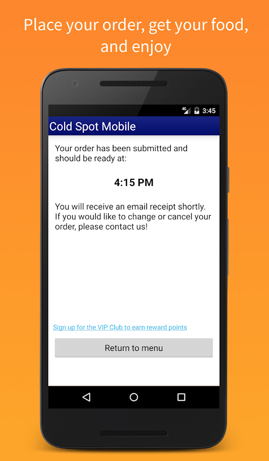 Cold Spot Mobile- screenshot