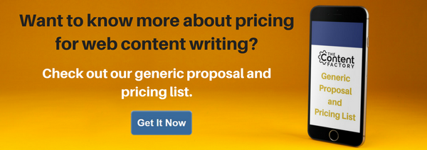 Web content writing services much does