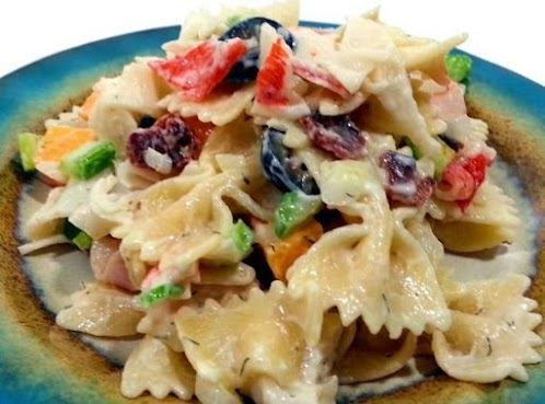 Bacon and Cheese Seafood Pasta