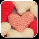 Crochet Heart Pattern icon