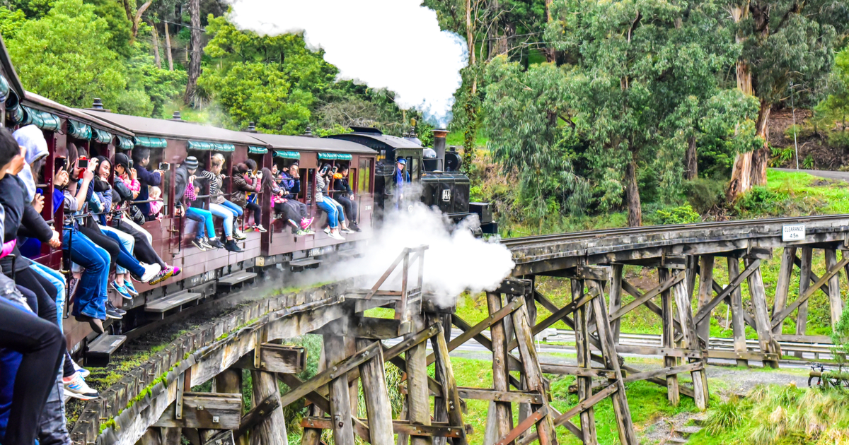 100 things to do in melbourne with kids puffing billy