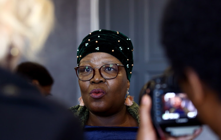 Former ANC MP Vytjie Mentor during her third day of testifying at the state capture inquiry in Parktown, Johannesburg on August 29 2018.