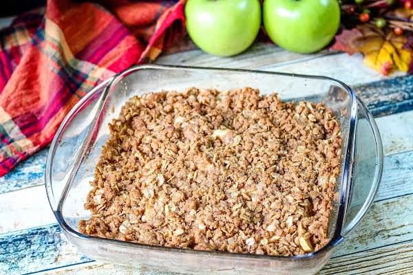 Apple Crisp Ready To Be Served.
