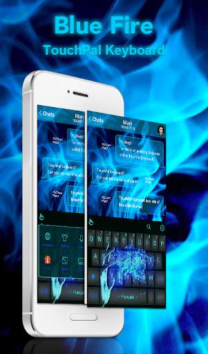 Blue Fire Keyboard Theme