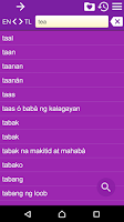 Screenshot of English Tagalog Dictionary