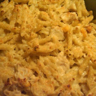Baked Cheesy Pasta With Chicken