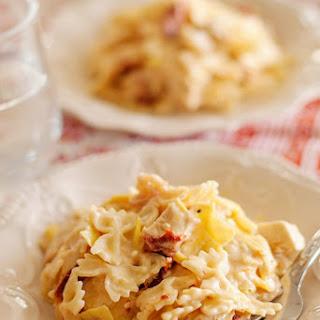 Artichoke and Sun Dried Tomato Pasta.