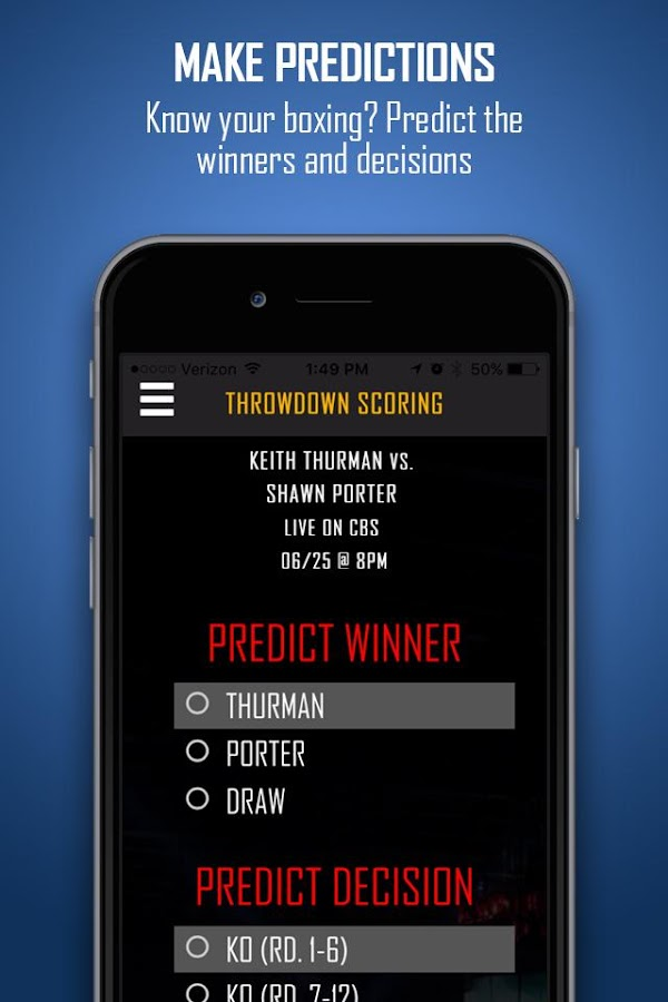 Throwdown Scoring- screenshot