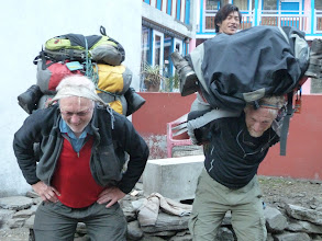 Photo: The new porters lacked much stamina