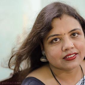 Happy Eyes by Prabir Adhikary - People Portraits of Women ( expression, beautiful eyes, radiating happiness, happy eyes, expressive eyes, eyes,  )