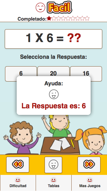 Tablas de Multiplicar- screenshot