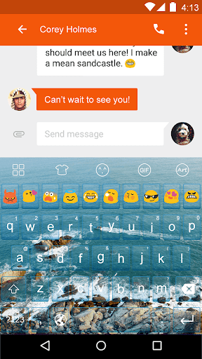 Ocean -Kitty Emoji Keyboard