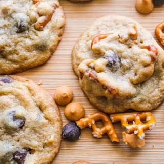 Butterscotch Pretzel Chocolate Chip Cookies