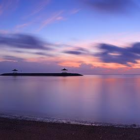 Sunrise at Sanur Beach by Saiful N. Firmansyah - Landscapes Beaches ( slowspeed, bali, beaches, sanur, long exposure, sunrise, beach, slow, slow speed, slow shutter,  )