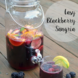 Easy Blackberry Sangria.